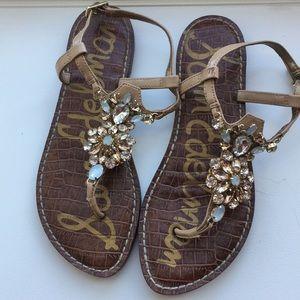 Sam Edelman - Nude sandals with jewel detailing